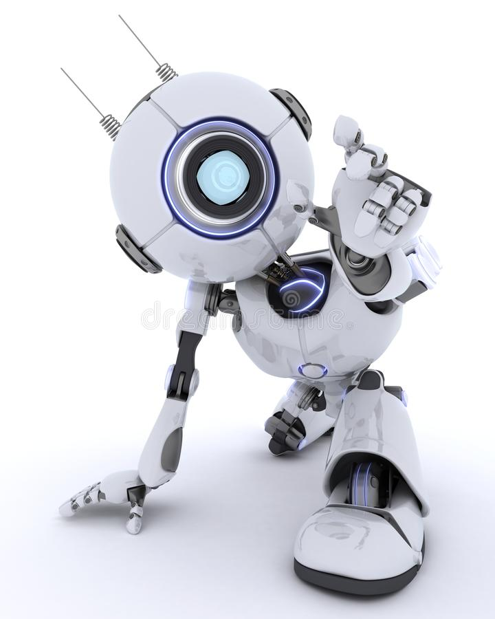 提供援助的机器人接触某事 向量例证