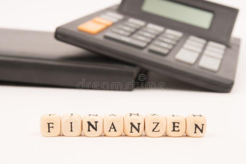 提供经费给德语 免版税库存照片