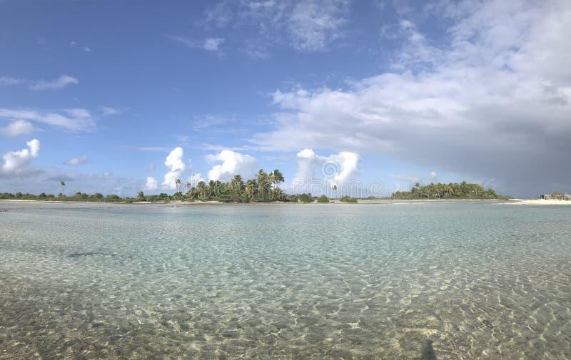 提克豪环礁盐水湖 免版税库存图片