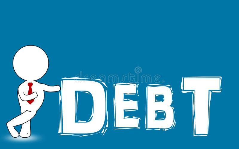 提出概念词债务的人的图 向量例证