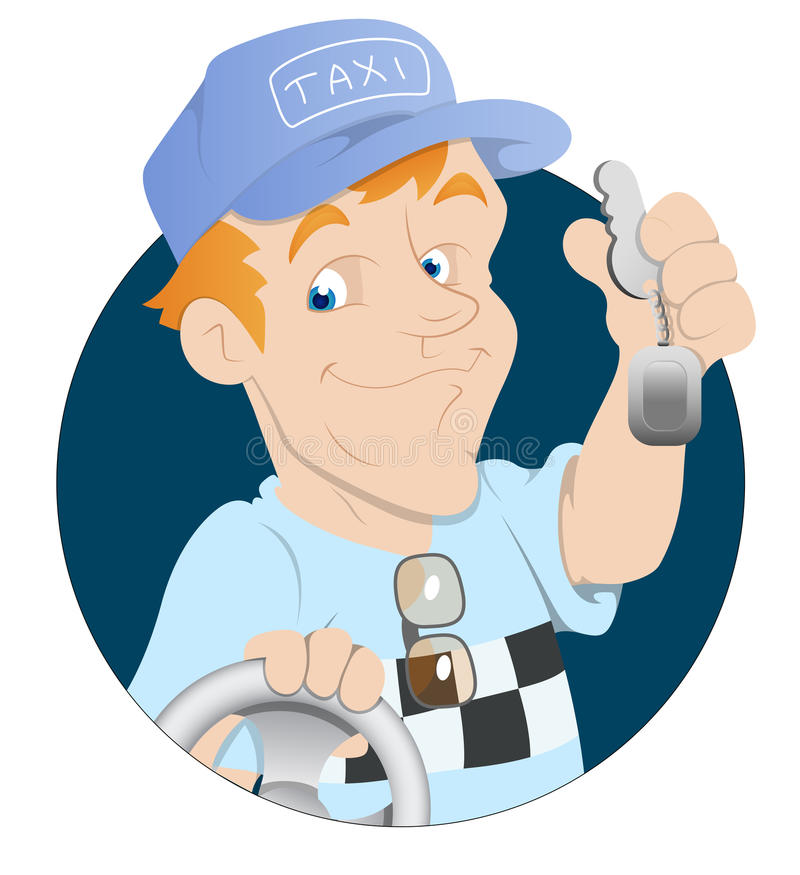 出租汽车司机 库存例证