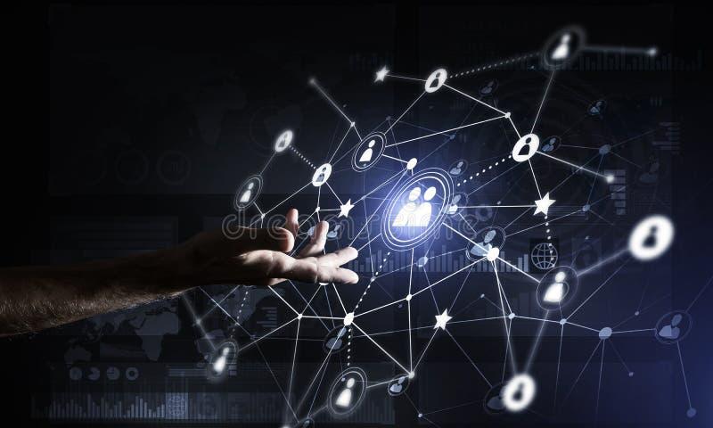 提出现代无线技术作为communucatio手段  库存例证