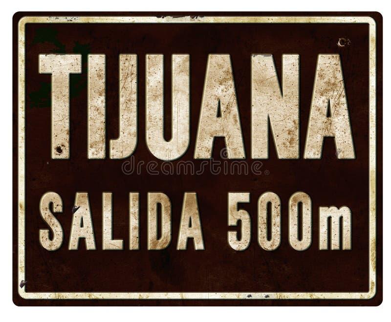 提华纳市区范围标志Salada 库存照片