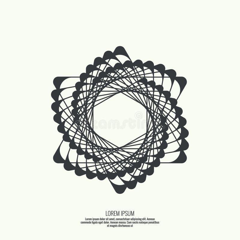 提取与几何形状的背景 向量例证