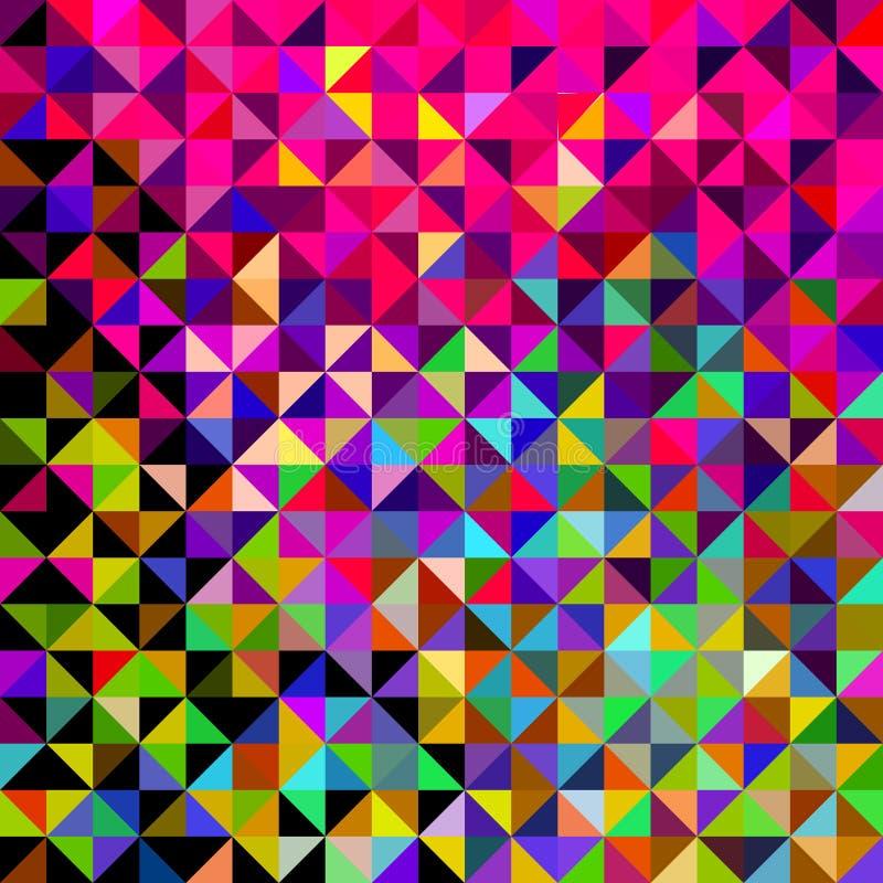 提取传染媒介几何颜色背景 库存例证
