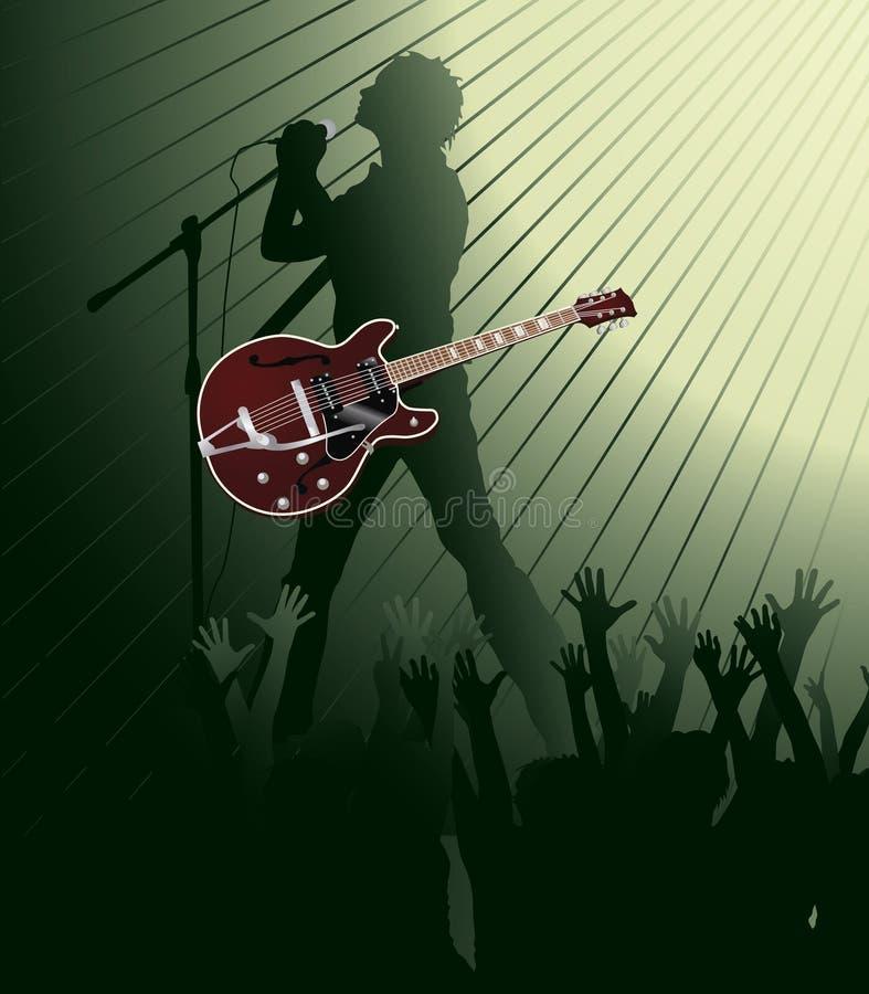 提取协调的乐曲po海报向量 向量例证