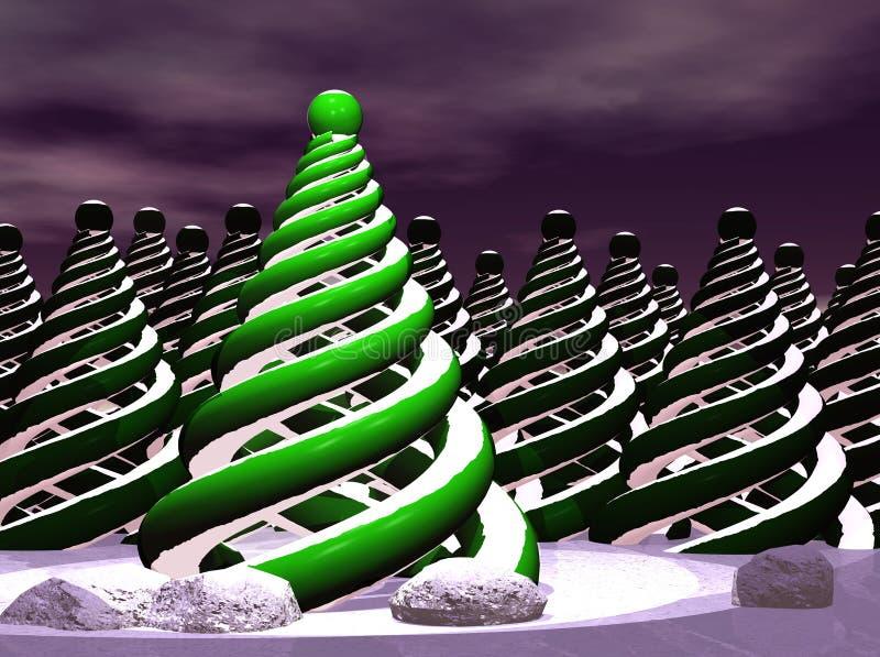 提取圣诞节现代结构树 向量例证