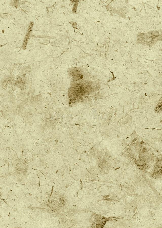提取棕色有毛边的自然纸纹理墙纸 免版税库存图片