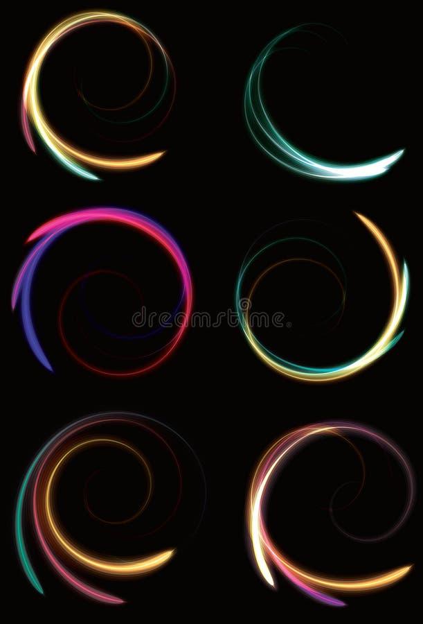 提取模糊的霓虹空转的螺旋 皇族释放例证