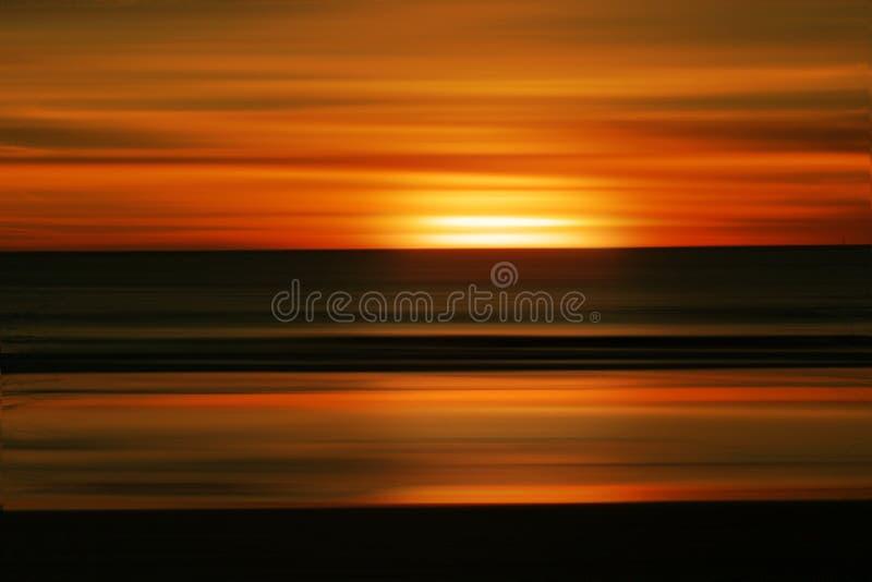 提取海滩日落 库存图片