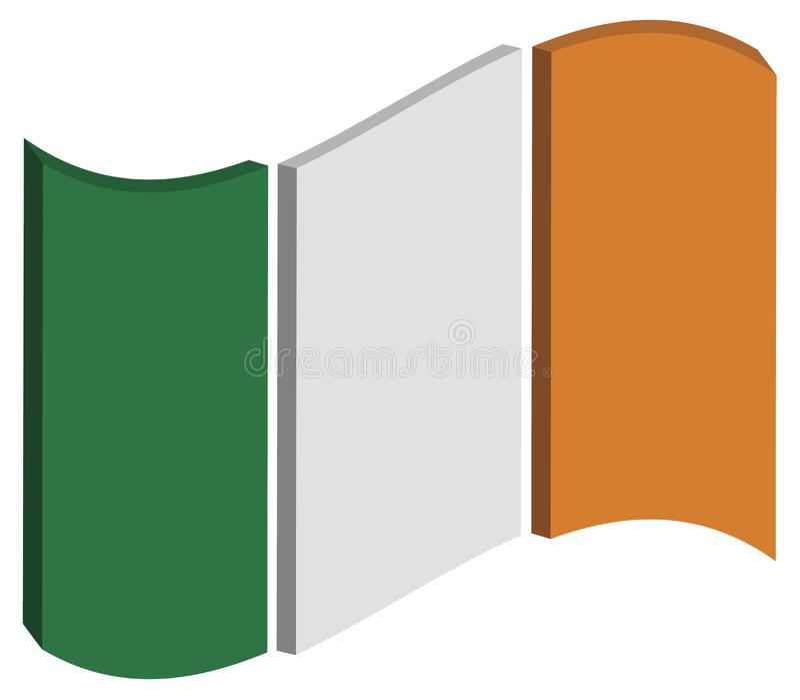 提取爱尔兰标志 库存图片