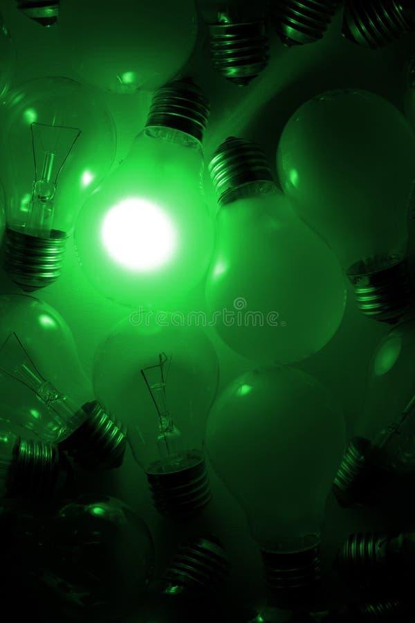 提取电灯泡光 库存照片