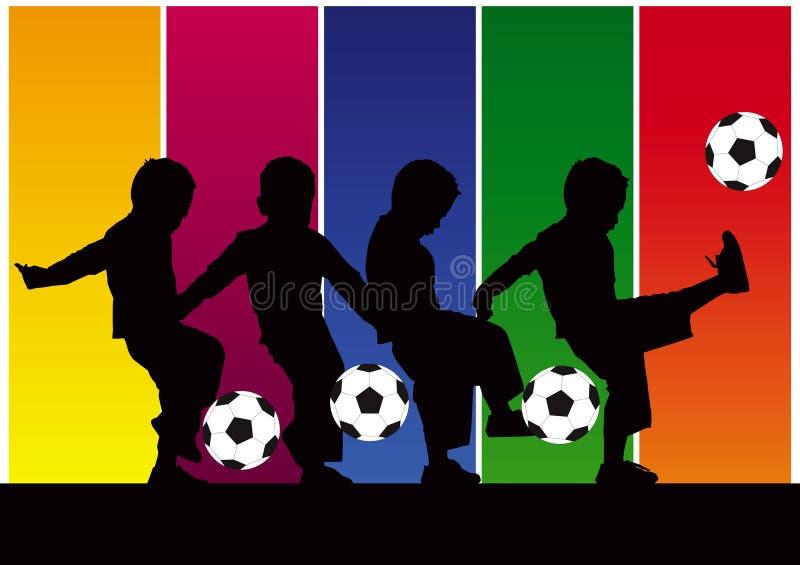 提取男孩足球 皇族释放例证