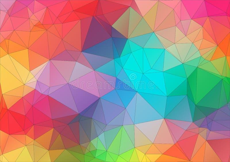 提取第2个三角五颜六色的背景 向量例证