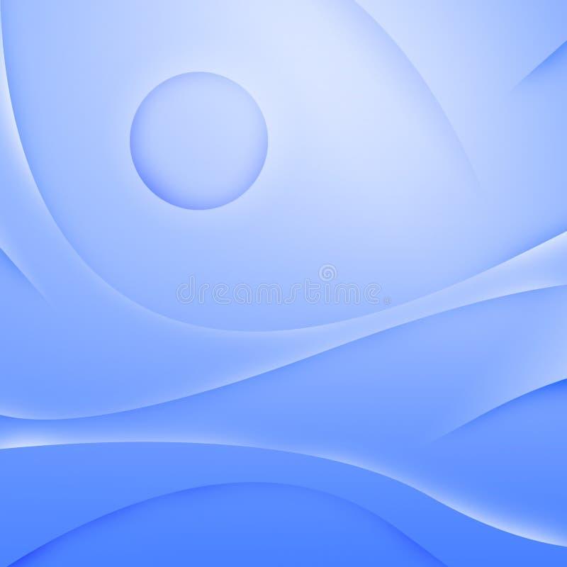 提取背景蓝色通知 库存例证