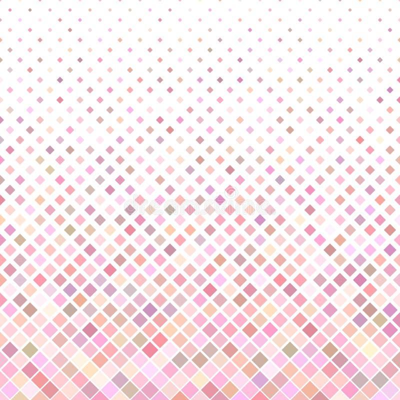 提取色的方形的样式背景-从对角正方形的几何传染媒介设计在桃红色口气 库存例证