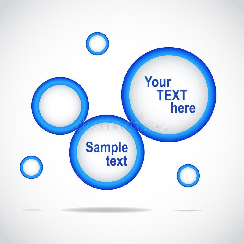 提取蓝色设计站点模板万维网 库存例证