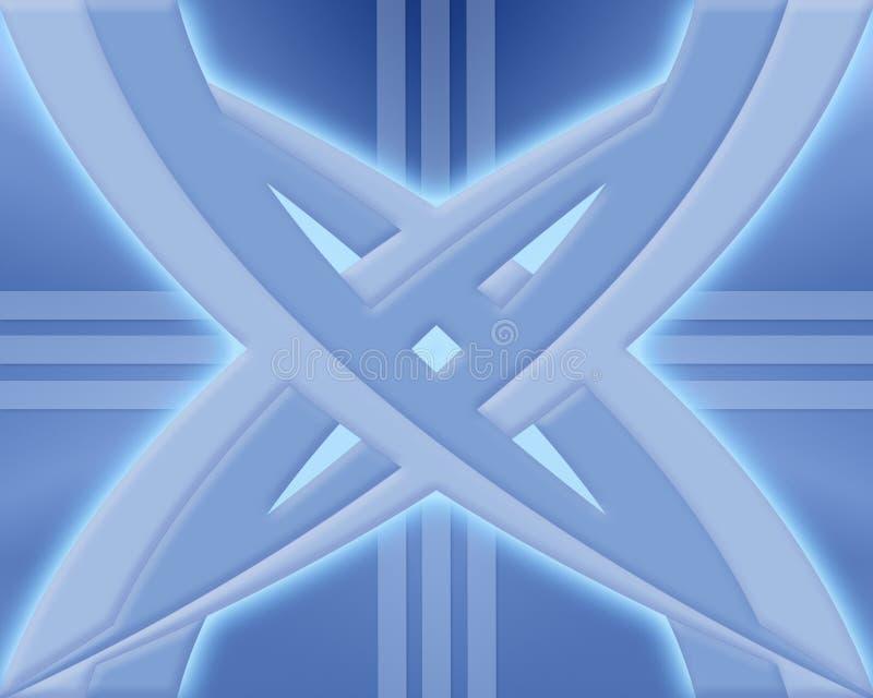提取蓝色设计 库存例证