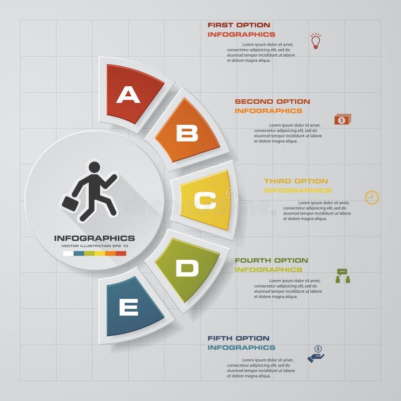 提取5步您的介绍的企业模板 向量例证