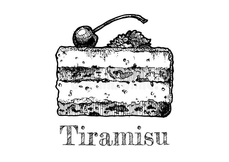 提拉米苏的例证 向量例证