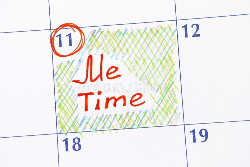 提示我在日历的时间 库存照片