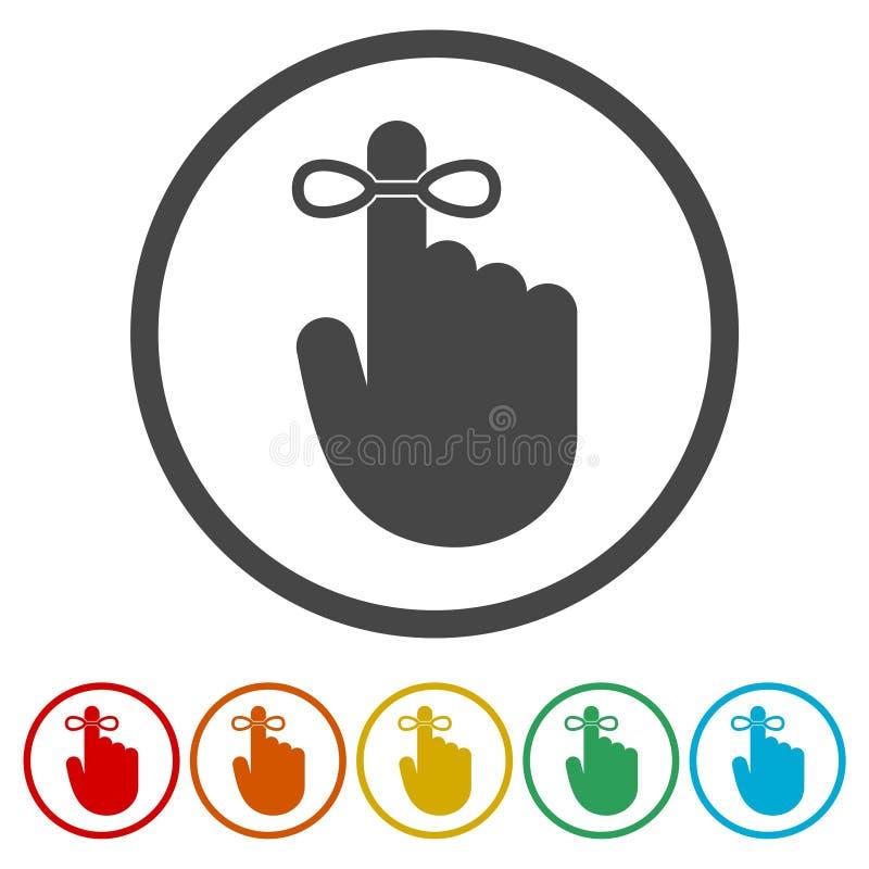 提示象-导航例证,包括的6种颜色 皇族释放例证