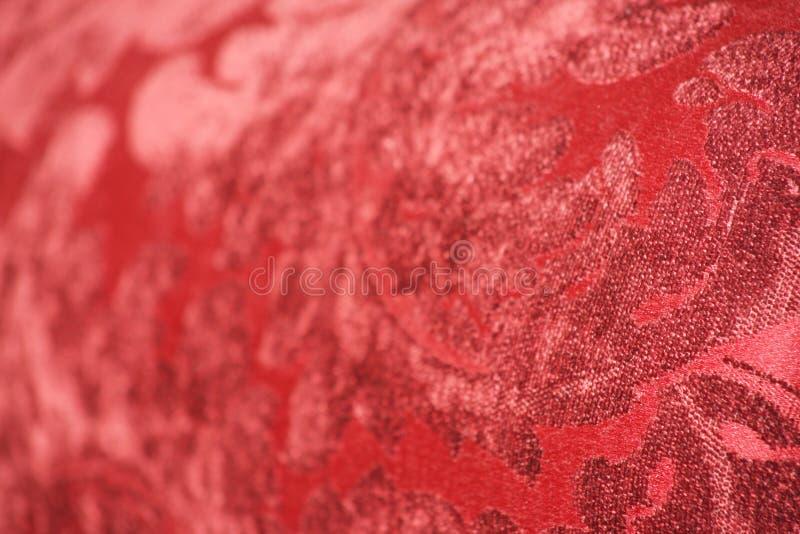 提花织物红色天鹅绒 库存图片