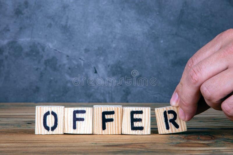 提议-从木信件的词 免版税库存图片