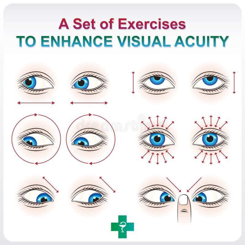 提高视敏度 向量例证