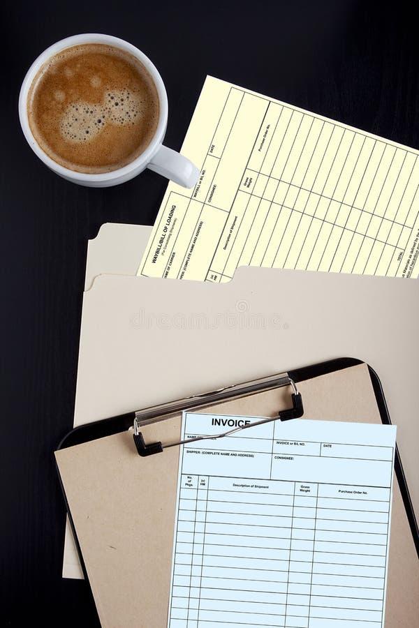 提货单和发货票 免版税库存照片