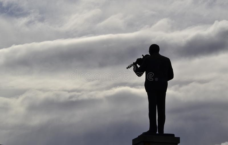 提琴手 库存照片