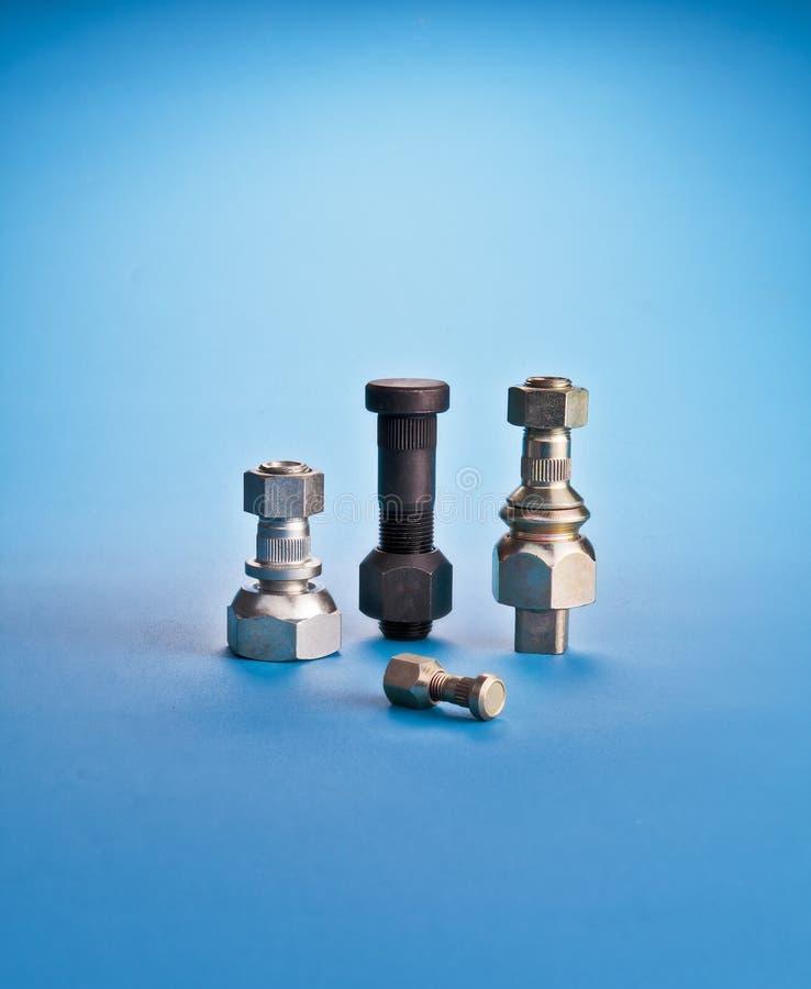 插孔螺栓或汽车螺栓或者混杂 螺栓 免版税库存图片
