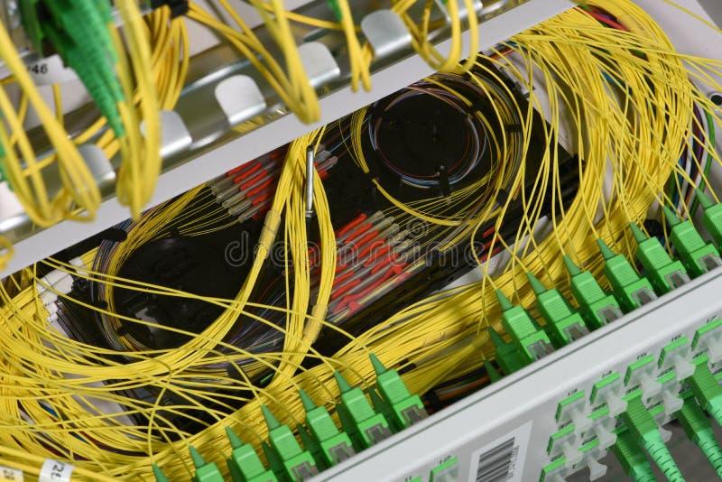 插接线缚住和接合在香料盘子的纤维 图库摄影