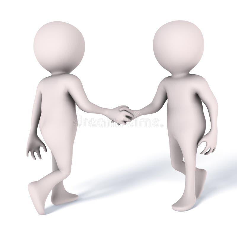 握手会议人 向量例证