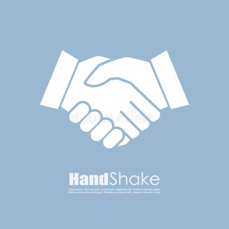 握手传染媒介企业象 库存例证