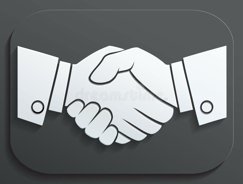 握手传染媒介象-在白色背景的企业概念 向量例证