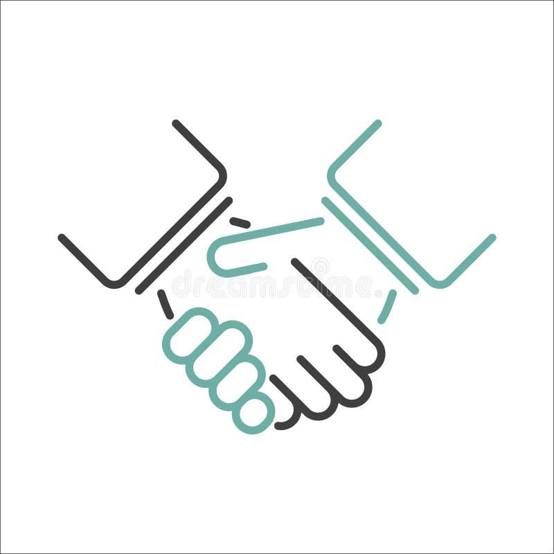 握手传染媒介 库存例证