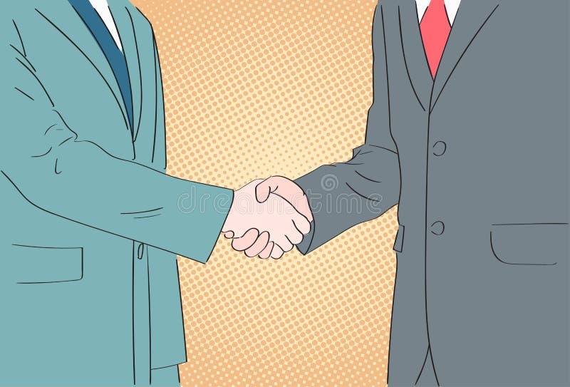握手商人流行艺术手震动 皇族释放例证