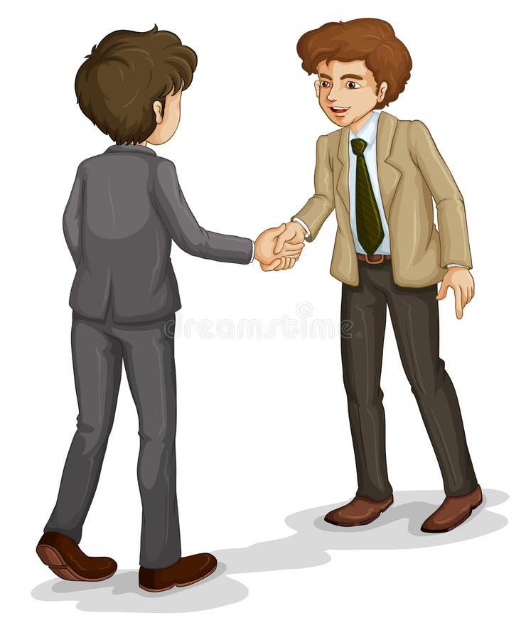 握手的两个商人 皇族释放例证