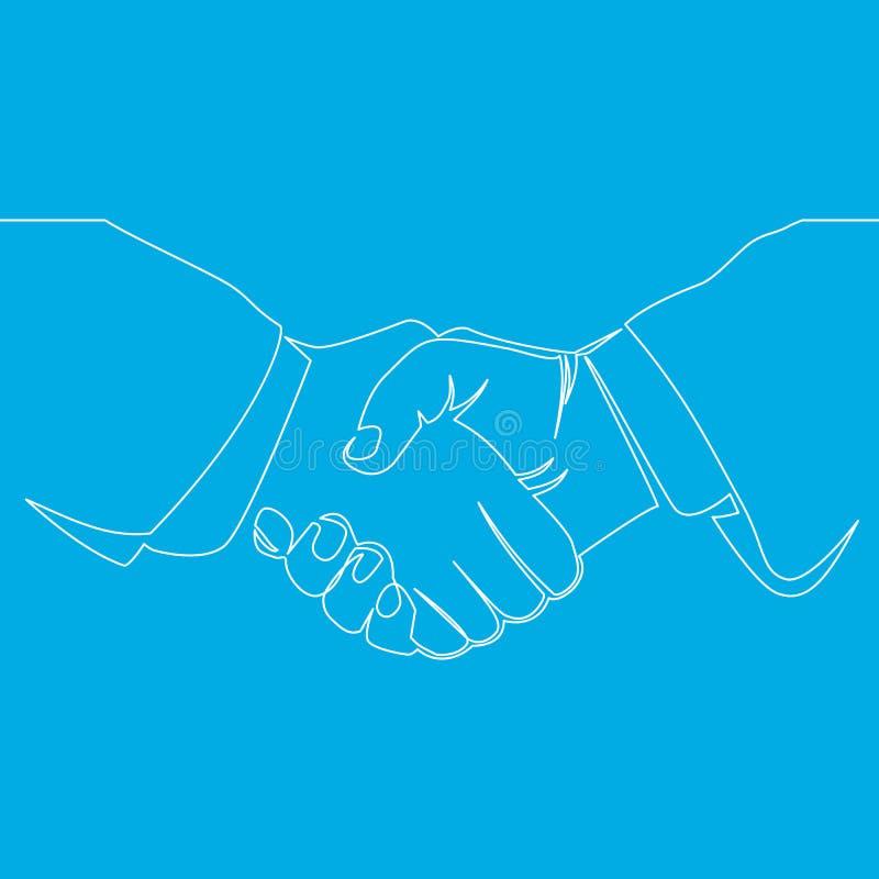 握手线企业协议概念 库存例证