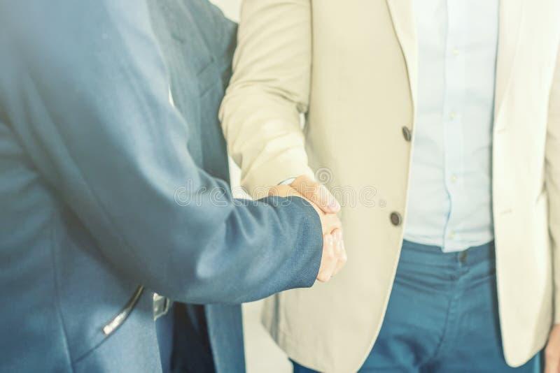 握手,成功,成交,伙伴concep的商人 库存图片