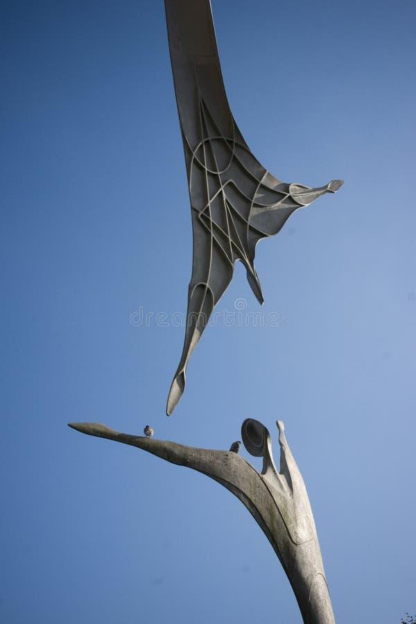 援权公开雕塑在林肯城中心,林肯,李 免版税库存照片