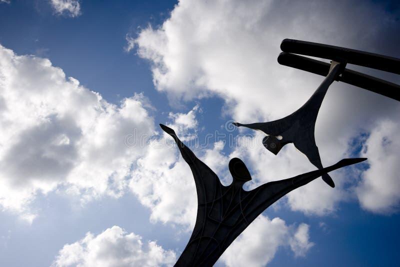 援权公开雕塑在林肯城中心,林肯,李 免版税图库摄影