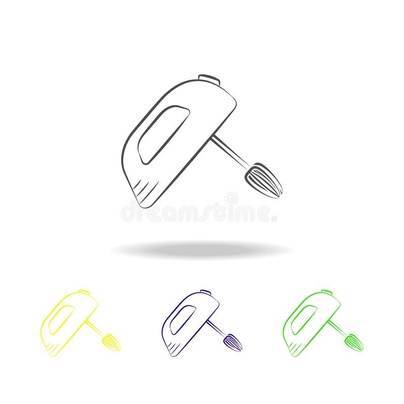 搅拌器多彩多姿的象 电子设备多彩多姿的象的元素 标志,标志汇集象可以为网,lo使用 库存例证