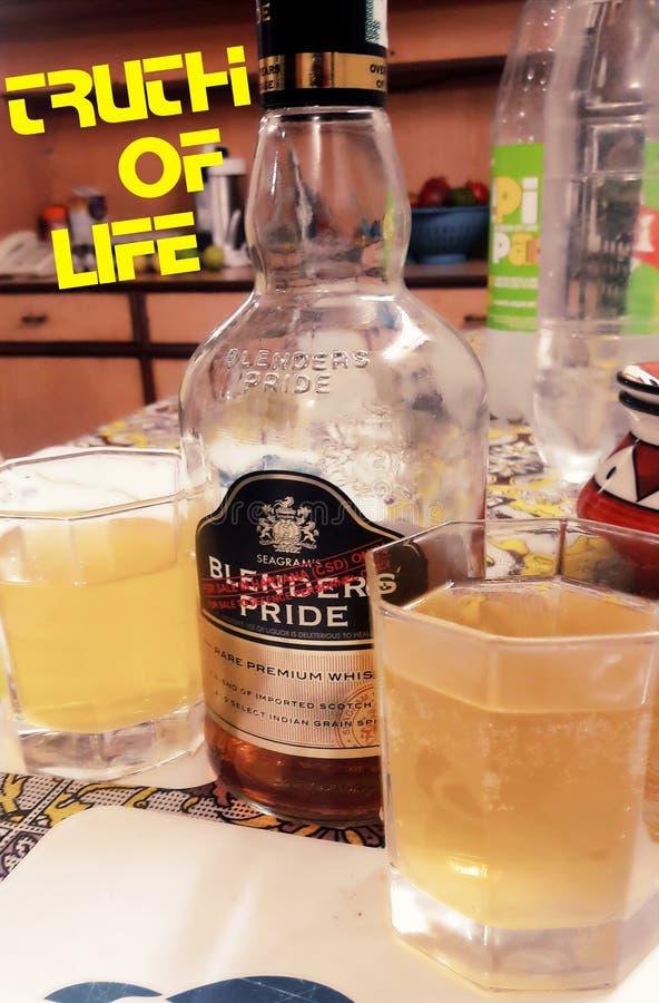 搅拌器自豪感威士忌酒 库存照片
