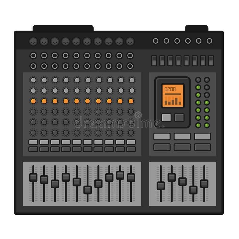 搅拌机合理的工作室 音乐调平器控制台 向量 向量例证