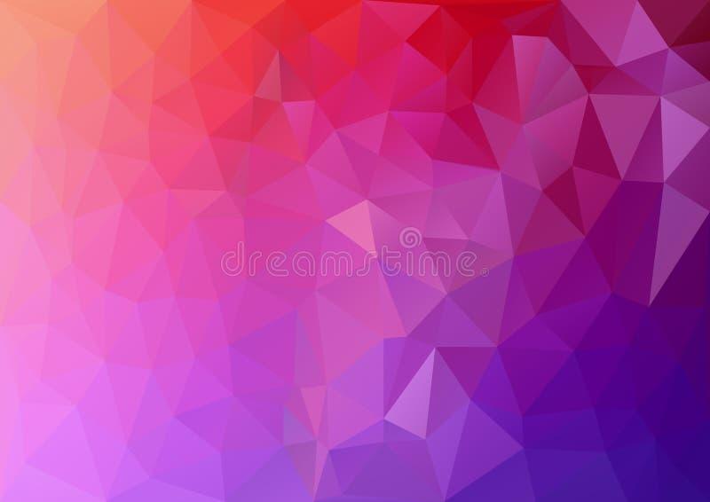搅碎机桃红色几何样式 皇族释放例证