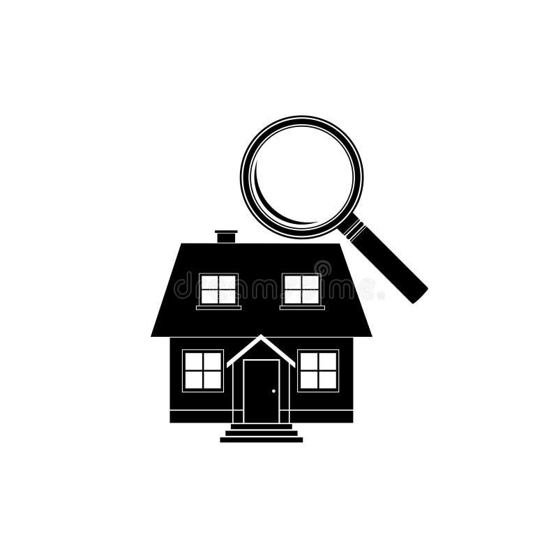 搜寻一个新的家庭象,标志,商标,按钮 库存例证