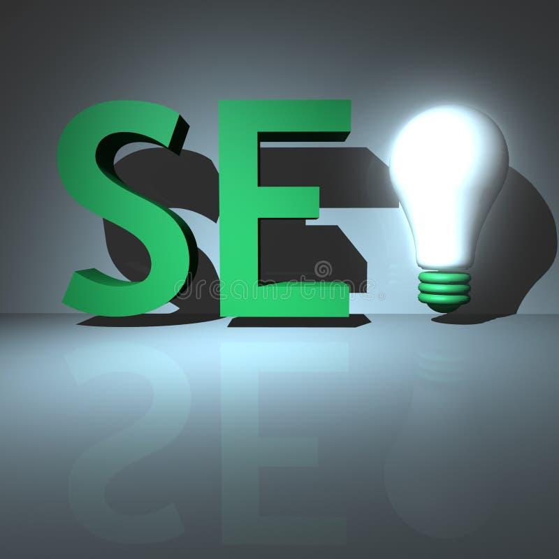 搜索引擎优化&企业成就 库存例证