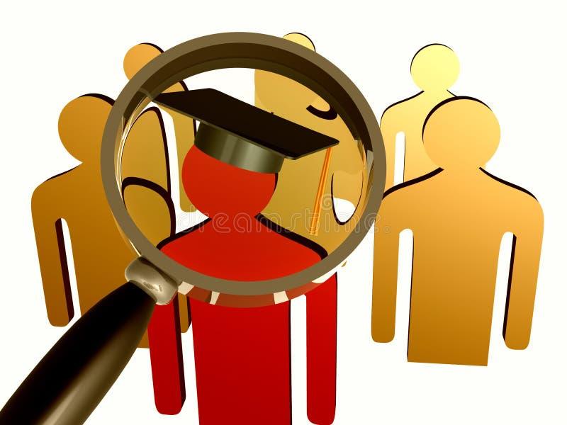 搜索教育的领导先锋图标 向量例证